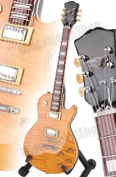 """miniaturka gitary AEROSMITH - JOE PERRY: LES PAUL """"BONEYARD"""" STYLE (MPA503)"""