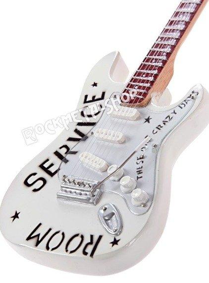 miniaturka gitary BRIAN ADAMS - SERVICE ROOM WHITE