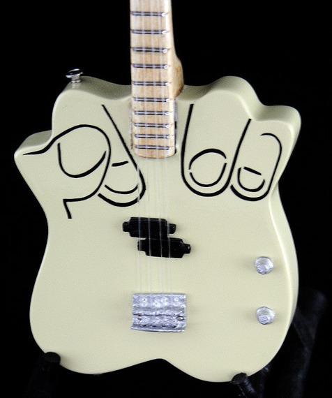 miniaturka gitary HAND BASS - FUCK OFF