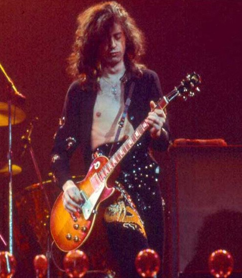 miniaturka gitary LED ZEPPELIN - JIMMY PAGE: LES PAUL CUSTOM
