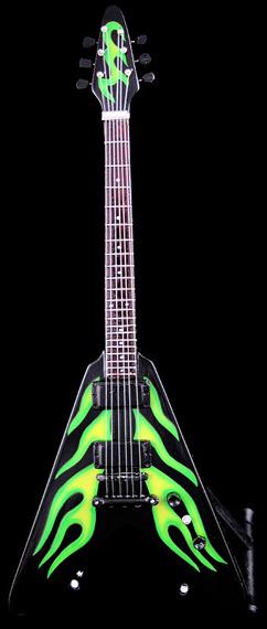 miniaturka gitary METALLICA -  JAMES HETFIELD: GREEN HOT ROD
