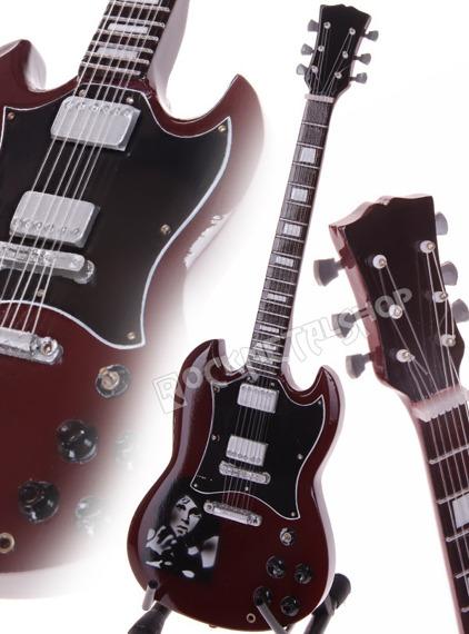 miniaturka gitary THE DOORS - GIBSON SG JIM MORRISON