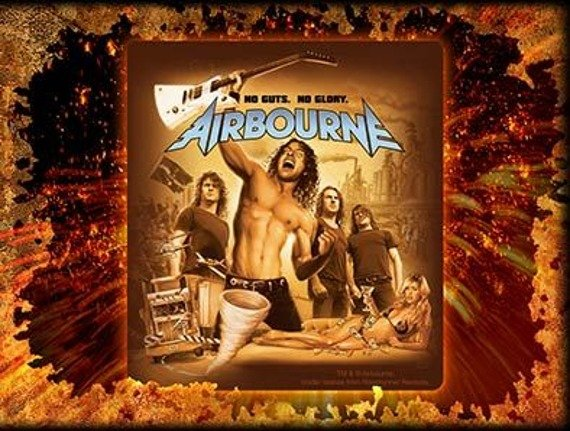 naklejka AIRBOURNE - NO GUTS NO GLORY