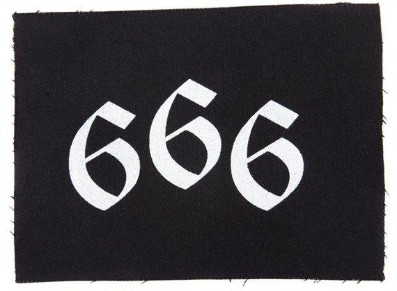 naszywka 666 - WHITE GOTHIC