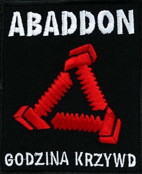 naszywka ABADDON - CZERWONE LOGO  Carton