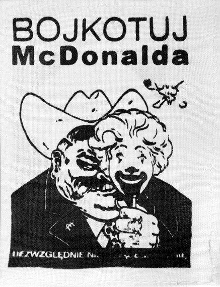 naszywka BOJKOTUJ McDONALDA ....