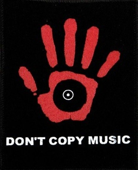 naszywka DONT COPY MUSIC