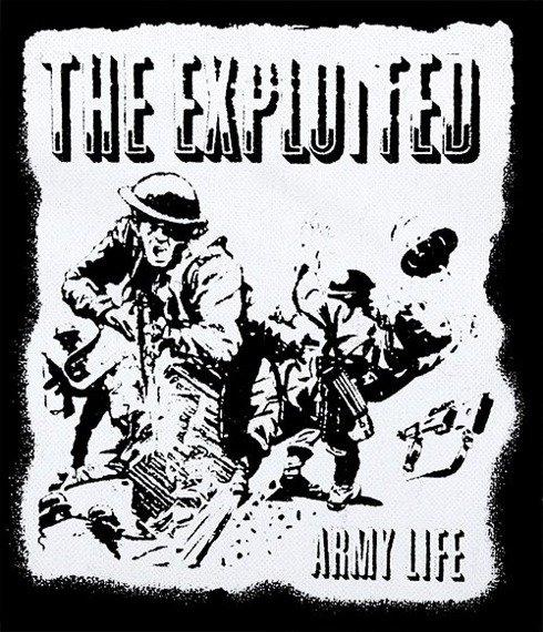 naszywka EXPLOITED - ARMY LIFE