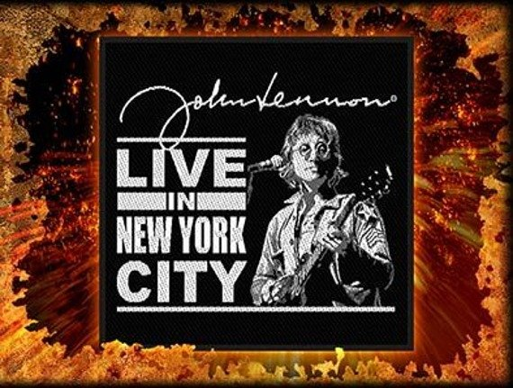 naszywka JOHN LENNON - LIVE IN NEW YORK CITY