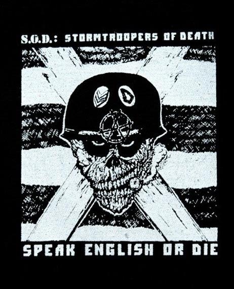 naszywka S.O.D. - SPEAK ENGLISH OR DIE