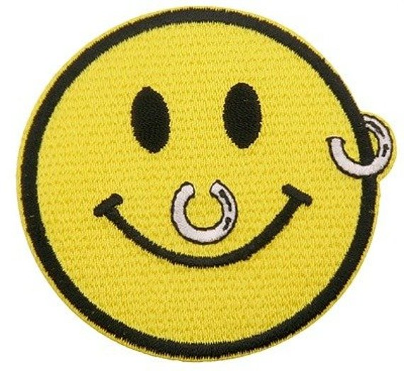 naszywka termiczna PIERCING SMILEY (EP.452)