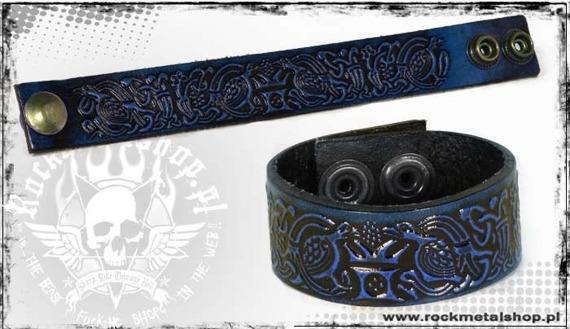 opaska na rękę wiązana 24mm TRIBAL blue