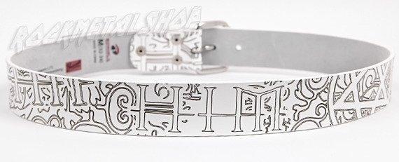 pas HIM White Belt w/ Laser Carved