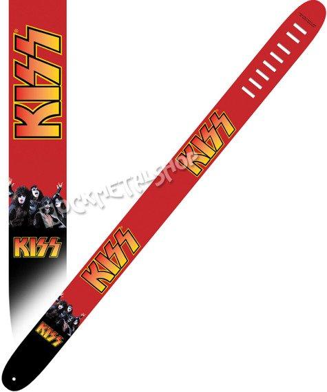 pas do gitary KISS - IN RED skórzany, 63mm