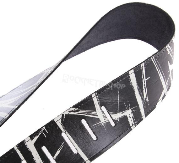 pas do gitary SLAYER - LOGO skórzany, 63mm