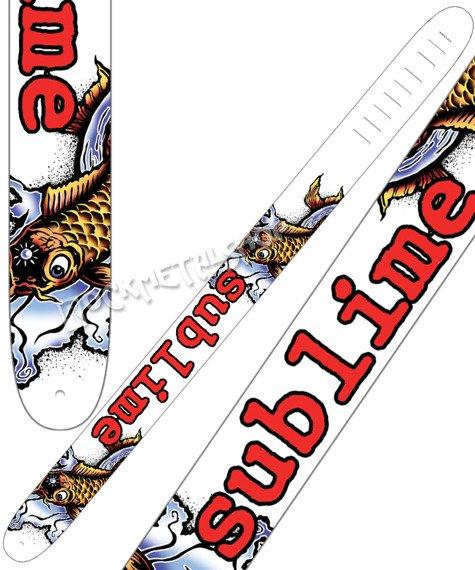 pas do gitary SUBLIME - BAD FISH skórzany, 63mm