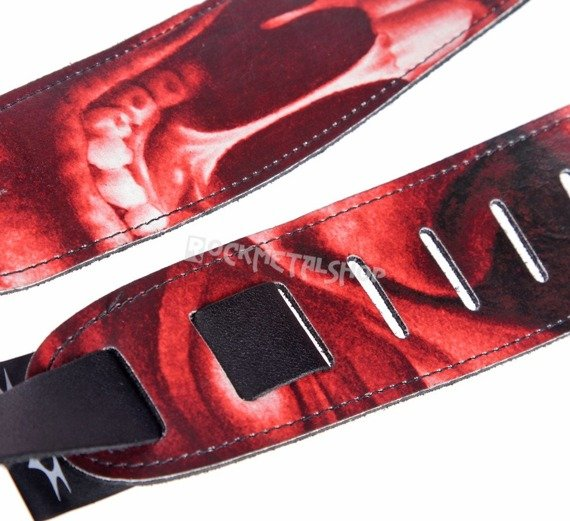 pas do gitary TATTOO JOHNNY - DEMONIC MONSTER skórzany, 63mm