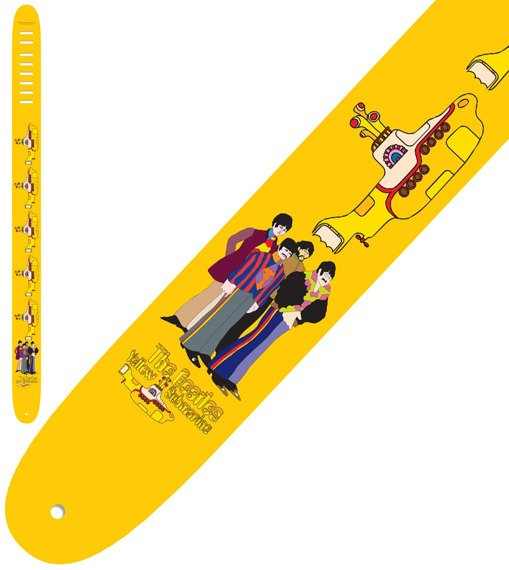 pas do gitary THE BEATLES - YELLOW SUBMARINE skórzany, 63mm