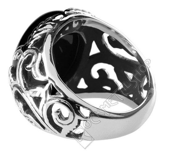 pierścień BIG BLACK ORNAMENT