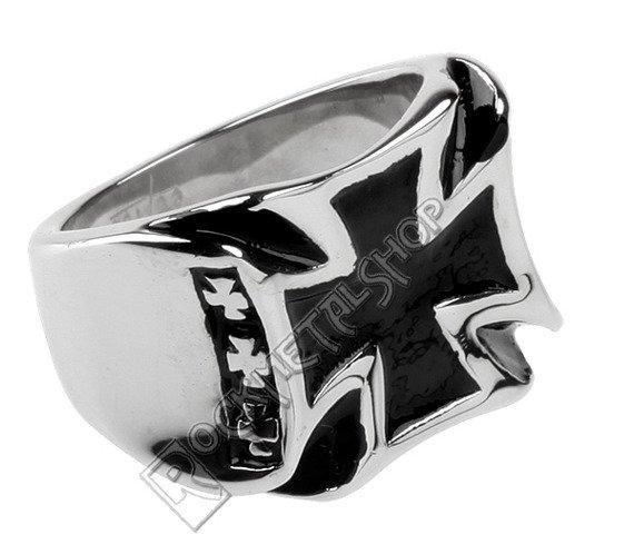 pierścień BLACK IRON CROSS