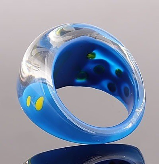 pierścień DOTS niebieski