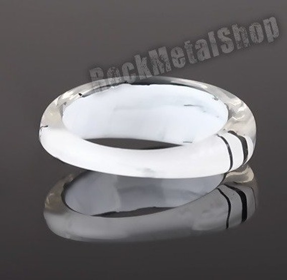 pierścień STRIPES biały