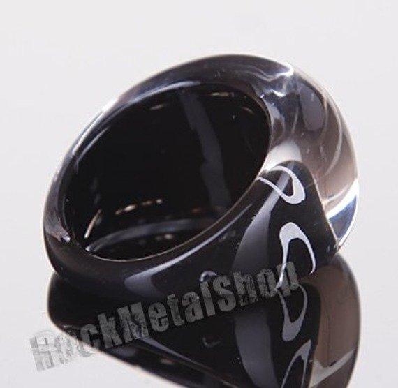 pierścień WZOREK czarny
