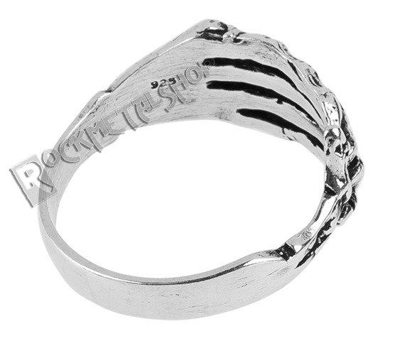 pierścionek SKULL HAND, srebro 925