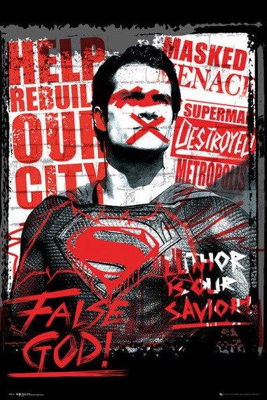 plakat BATMAN VS SUPERMAN - SUPERMAN FALSE GOD