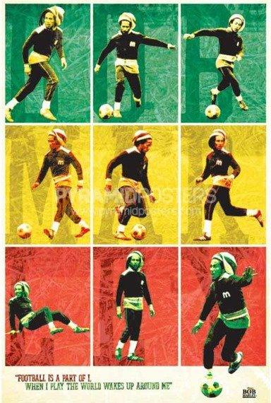plakat BOB MARLEY - FOOTBALL
