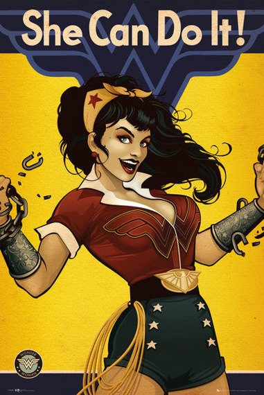 plakat DC COMICS - WONDER WOMAN BOMBSHELL