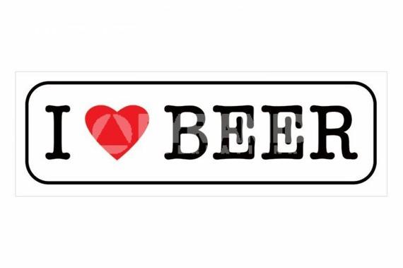 plakat I LOVE BEER