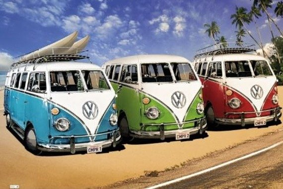 plakat VW CALIFORNIAN CAMPER - CAMPERS