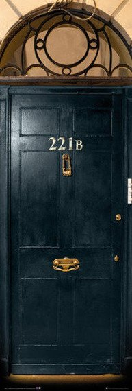 plakat na drzwi SHERLOCK - 221B DOOR