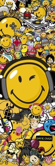 plakat na drzwi SMILEY WORLD U.S.A - SMILEY