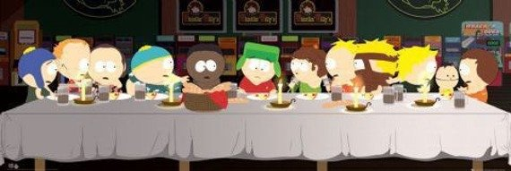 plakat panoramiczny SOUTH PARK - LAST SUPPER