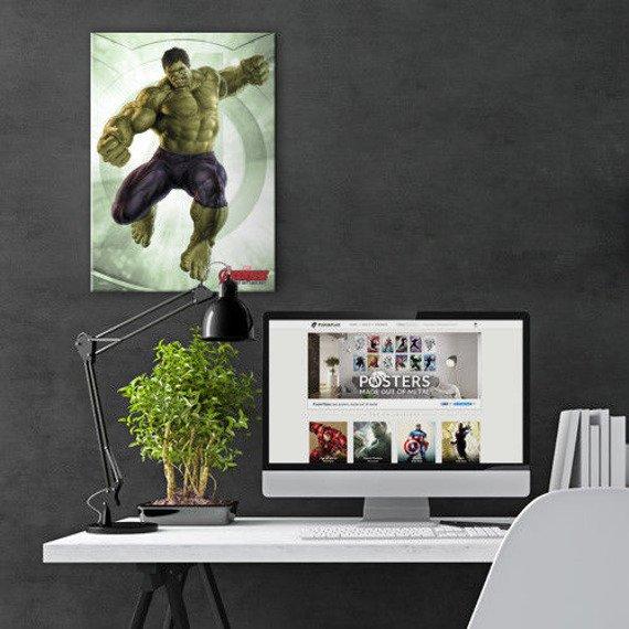 plakat z metalu MARVEL - THE HULK