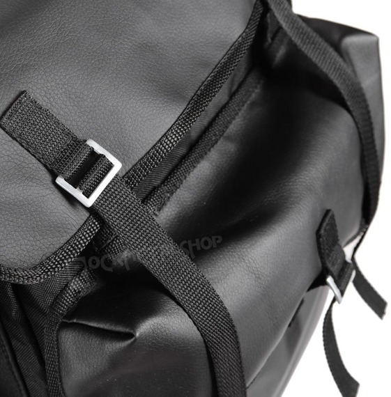 plecak TURYSTYCZNY + skóra ekologiczna BLACK/BLACK