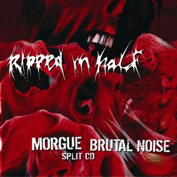 płyta CD: MORGUE / BRUTAL NOISE - RIPPED IN HALF (split CD)