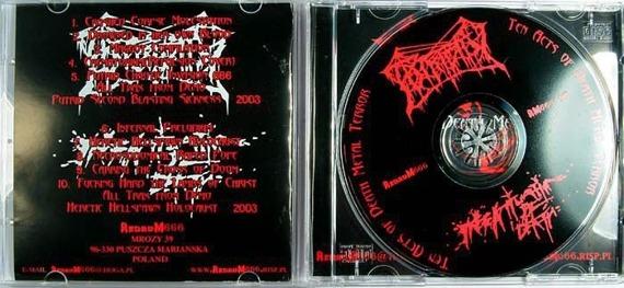 płyta CD: PUTRIDITY / INFATUATION OF DEATH split (RM666 001)