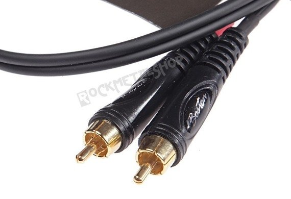 przewód audio BOSTON: 2 x RCA (cinch) - mały jack (3.5mm) stereo / 30cm