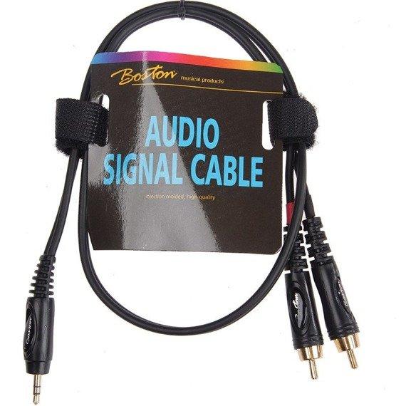 przewód audio BOSTON: 2 x RCA (cinch) - mały jack (3.5mm) stereo / 30cm