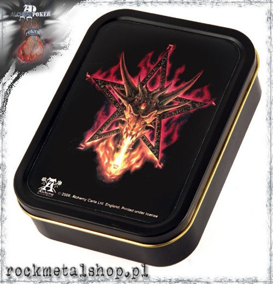 pudełko na tytoń - karty FURNACE OF MERCURY