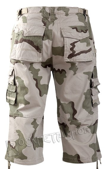 spodnie bojówki 3/4 AIR COMBAT PANTS PREWASH DESERT