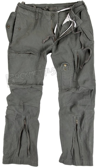 spodnie bojówki FLIEGERHOSE COTTON PREWASH OLIVE