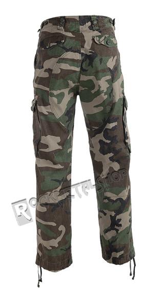 spodnie bojówki HUDSON RIPSTOP TROUSER woodland