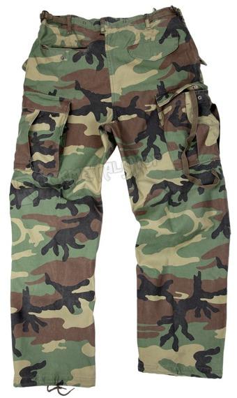 spodnie bojówki US FELDHOSE M65 NYCO WOODLAND