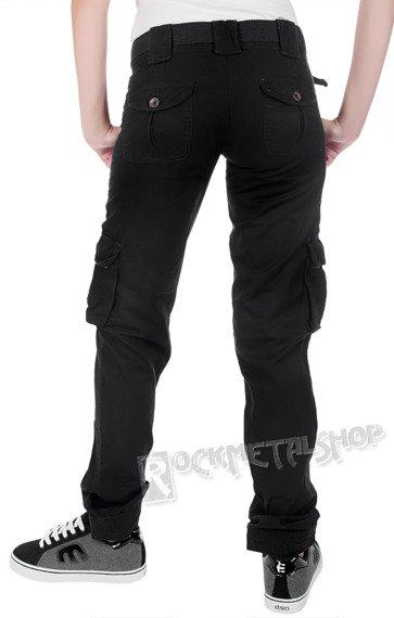 spodnie bojówki damskie LADIES PREMIUM TROUSERS SLIMMY BLACK