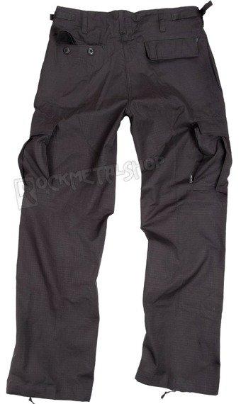 spodnie bojówki damskie US BDU HOSE WOMAN RIP-STOP PREWASH SCHWARZ