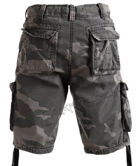 spodnie bojówki krótkie AIRBORNE VINTAGE BLACK CAMO